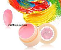 Гель-краска Canni 534 пастельно-розовая