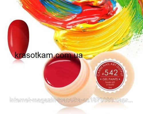 Гель-краска Canni 542 темно-красная