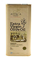 Оливковое масло экстра вирджин Мессиния Атика Фуд Extra Virgin Olive Oil Messinia Attica Food 5 л ж/б