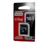 Карта памяти MicroSDHC 16 Гб (class 10) GoodRAM + Переходник MicroSD-SD