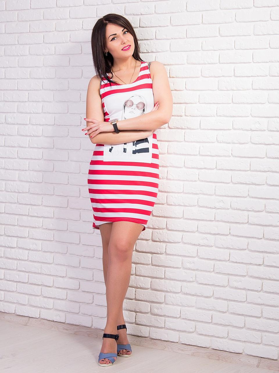 7ce7120e216 Купить Трикотажное летнее платье 322405012 - Грация   Стиль