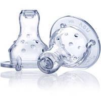 """Nuby Силиконовая соска """"Мультипоток"""" 0m+ для бутылочек со стандартным горлом 921 EUT /0-83"""
