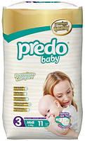 Подгузники детские PREDO BABY MIDI 4-9 KG  11 штук