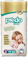 Подгузники детские PREDO BABY MIDI 4-9 KG  40 штук