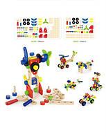 Конструктор деревянный Viga Toys (48 деталей), детский деревянный конструктор