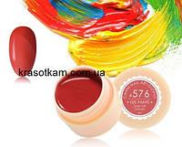 Гель-краска Canni 576 классическая красная