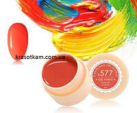 Гель-краска Canni 577 ярко-красная, неоновая