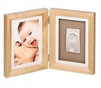 Двойная рамочка с отпечатком Baby Art, дерево