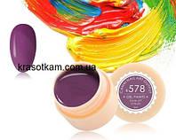 Гель-краска Canni 578 темная пастельно-лиловая