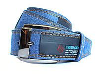 Мужской стильный джинсовый ремень синий (Р-jeans2)
