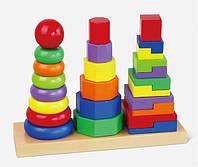 Пирамидка Viga Toys, деревянная пирамида, игрушка-пирамида