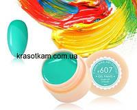 Гель-краска Canni 607 бирюзовая