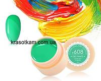 Гель-краска Canni 608 весенне-зеленая