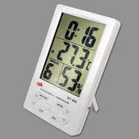 Термометр с часами, календарем, будильником и гигрометром.Термометр KT 903.Портативный термометр с гигрометром
