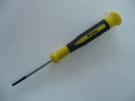 Отвертка прецизионная, прямой шлиц, CrV, магнитная, 2.5 x 50 мм Topex