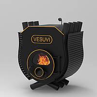 Печь калориферная «Vesuvi» «02» с варочной поверхностью стекло+перфорация