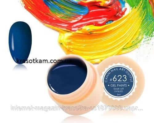 Гель-краска Canni 623 полуночно-синяя
