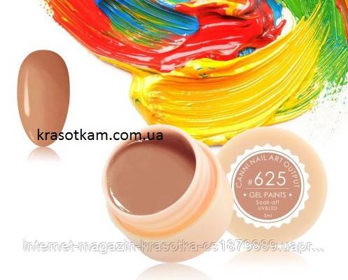 Гель-краска Canni 625 пастельная темно-персиковая