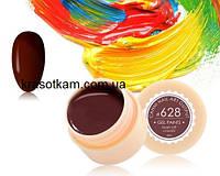 Гель-краска Canni 628 коричнево-бордовая