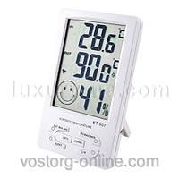 Домашние метеостанции. Цифровой портативный термометр с гигрометром KT-907