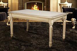 Стол журнальный прямоугольный с резными ножками Готика Микс мебель, цвет  слоновая кость + патина