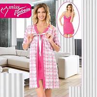 Комплект  Женский халат и носная рубашка Т 14439