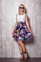 Женское платье 941 (т.синяя юбка белый верх)