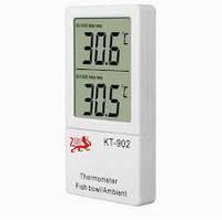 Инвентарь для аквариума. Аквариумный термометр KT 902, цифровой термометр для аквариума, внешний,