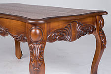 Стол журнальный прямоугольный с резным декором  Скарлетт Микс мебель, цвет  орех антик + патина, фото 3