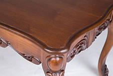 Стол журнальный прямоугольный с резным декором  Скарлетт Микс мебель, цвет  орех антик + патина, фото 2