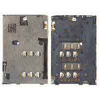 Коннектор SIM-карты для Nokia 305 Asha, оригинал