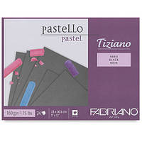 46723305 Альбом для пастели Tiziano 23х30,5 см 160 г/м.кв. 24 листа nero Fabriano Италия
