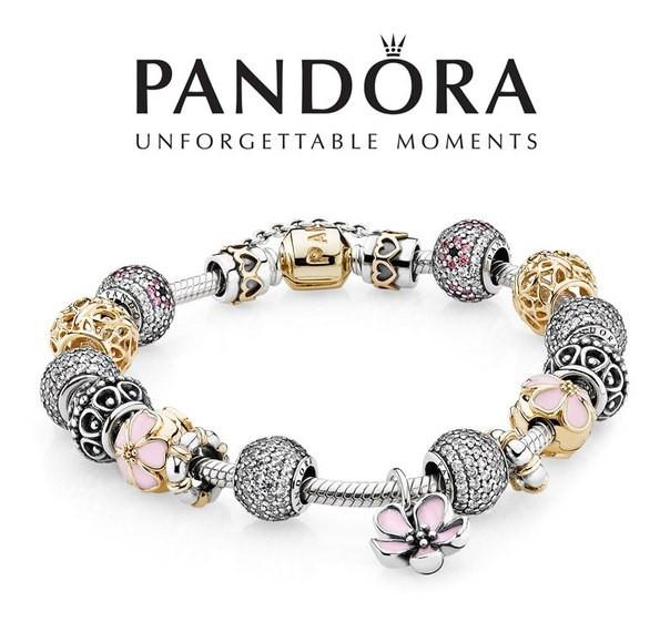 PANDORA браслет, шармы, бусины