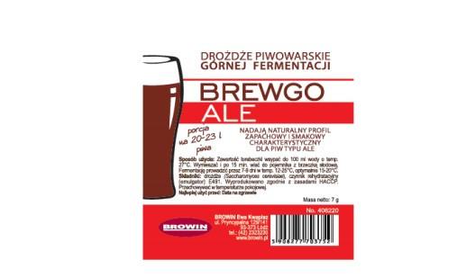 Пивные дрожжи BREWGO ALE