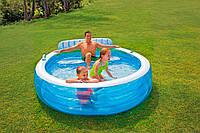 Надувной бассейн со спинкой Intex 57190, фото 1