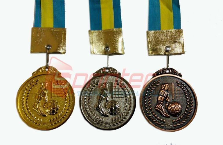 """Медаль """"Футбол"""" 6.5 см (1,3 место)"""