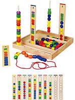"""Набор для обучения Viga Toys """"Логика"""", детская шнуровка"""