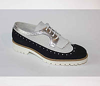 Шикарные кожаные туфли-оксфорды Moskitos, Италия-Оригинал