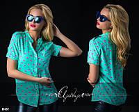 Модная штапельная блузочка