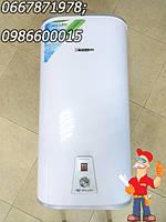 Бойлер плоский с сухим тэном Willer 50 литров, цвет белый, водонагреватель Виллер 50л.с, фото 1