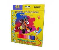 1010-48CB карандаши цветные 48 цв. шестигр. «Пегашка» Marco