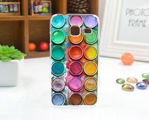 Чехол силиконовый бампер для Samsung J1 mini Galaxy J105 с рисунком Краски