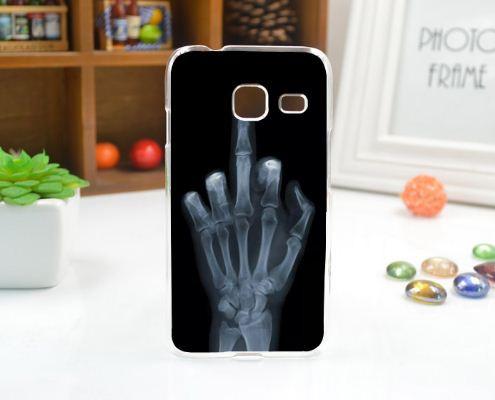 Чехол силиконовый бампер для Samsung J1 mini Galaxy J105 с рисунком Рентген