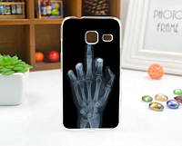 Чехол силиконовый бампер для Samsung J1 mini Galaxy J105 с рисунком Рентген, фото 1