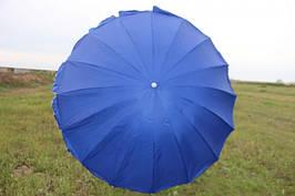 Пляжный зонт c серебряным напылением, регулеровкой наклона купола и металлопластиковыми спицами 1.8 м