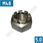 Гайки корончатые М48 ГОСТ 5918-73 | Размеры, вес, фото 2