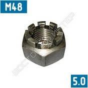 Гайки корончатые М48 ГОСТ 5918-73   Размеры, вес, фото 2