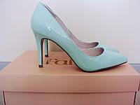 Свадебные лаковые лодочки туфли Faith мятного цвета