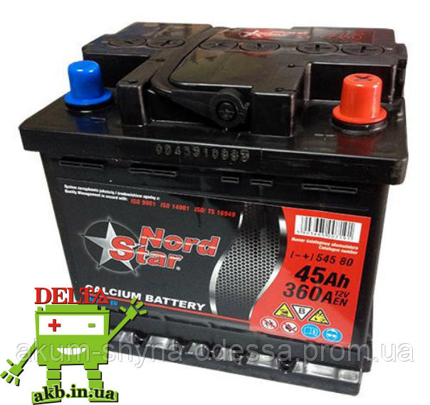 Аккумулятор NORD STAR 6СТ- 45Ah L