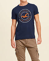 """Темно-синяя футболка """"California"""" Hollister"""